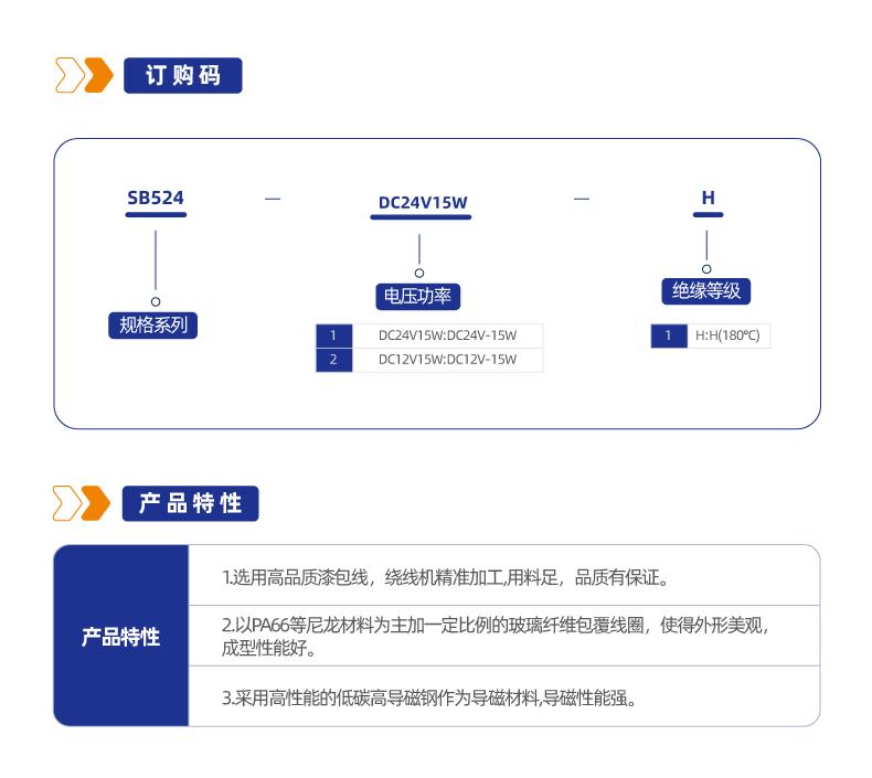 SB524/XY13373X系列热塑线圈