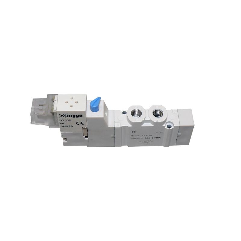 XY3120二位五通单电控管接式低功耗换向阀