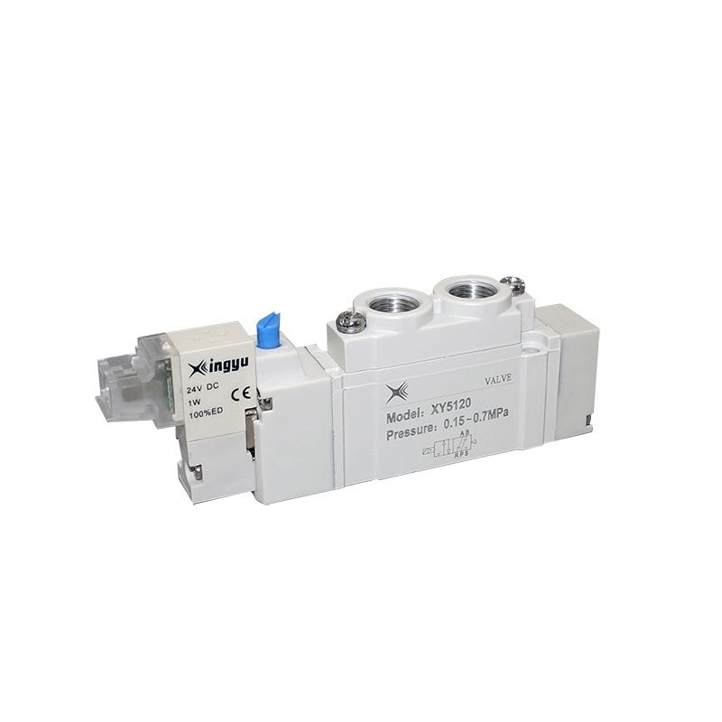 XY5120二位五通单电控管接式低功耗换向阀